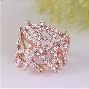 Jewelry - Rose Gold Plated Zircon Ring size 7